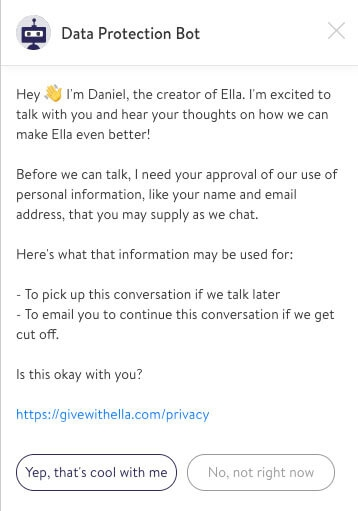 Give with Ella update