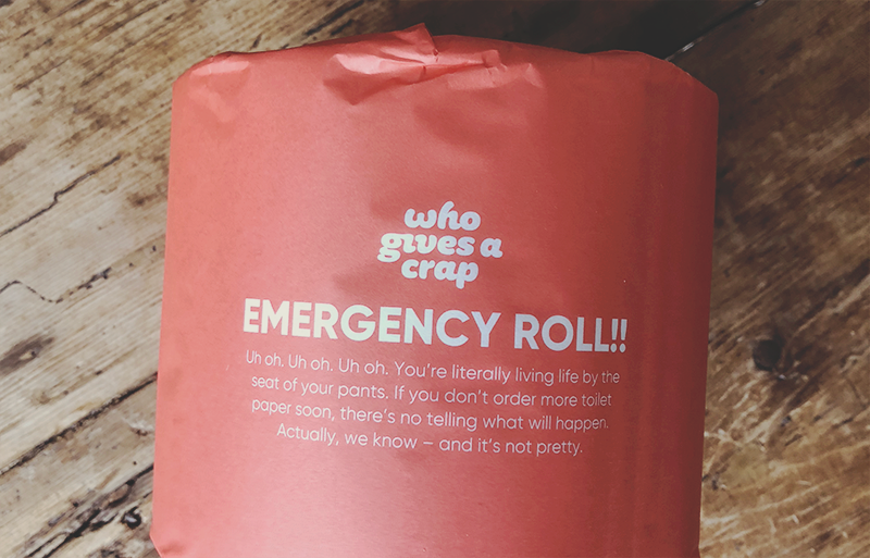 Who give a crap emergency roll